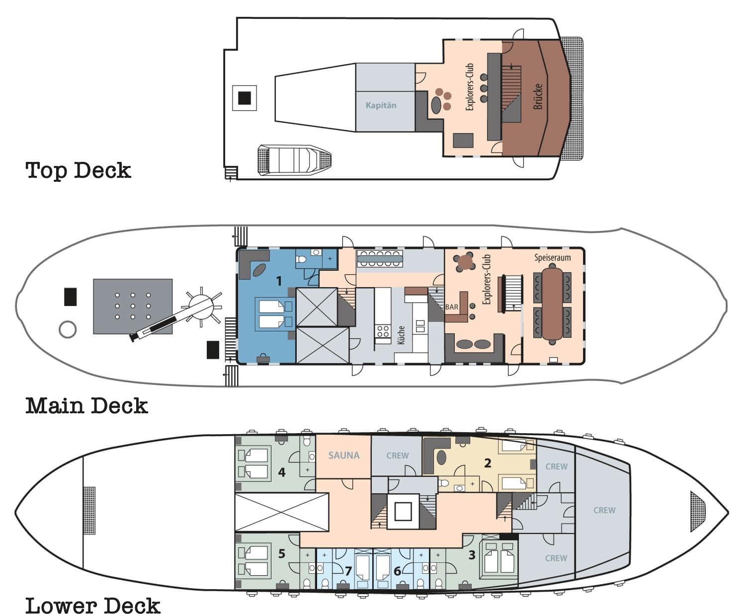 M/S Balto Deck plan