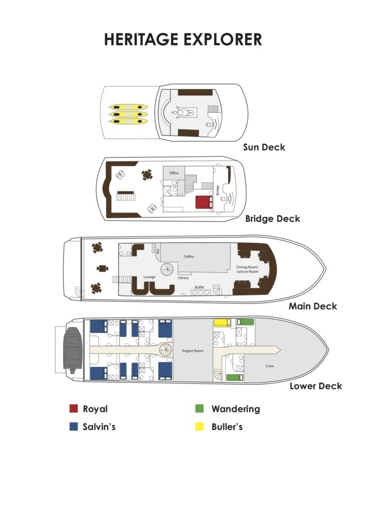 Heritage Explorer Deck Plan